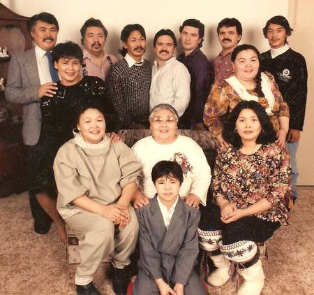 This is a picture of my mother and all my brothers and sisters taken in 1990.